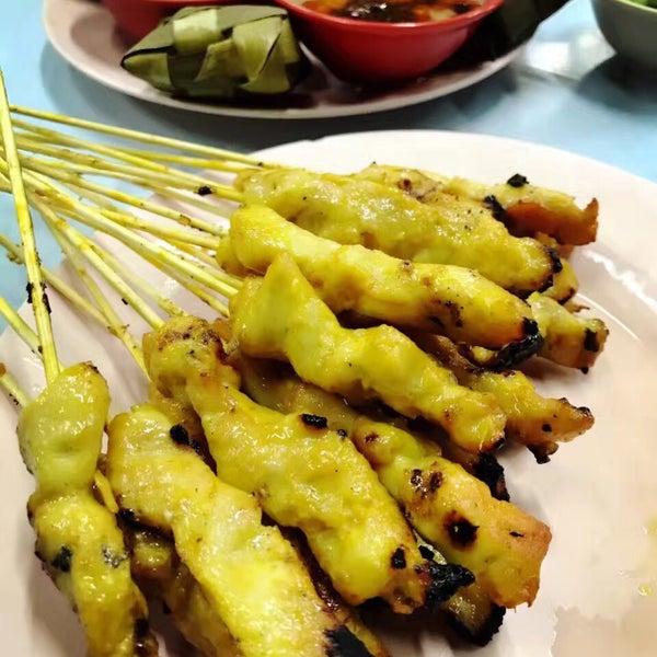 ��ϒ�ǒ�_photo taken at restaurant satay malaysia (nyuk lan) by @mil08