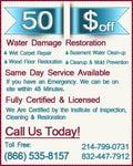 Water Damage Restoration in Houston