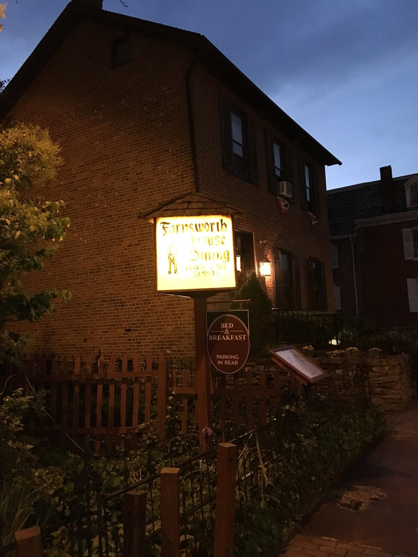 farnsworth house inn at 401 baltimore st (lincoln st.) gettysburg