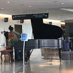 There's a piano here that anybody can play while waiting for your flight.