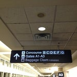 So the tram system says concourse C the whole time but definitely gets you closer to concourse A and B. The signs are confusing but you definitely travel faster using it.