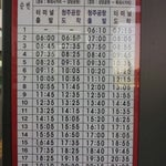 Bus time table btw Airport<->Downtown. Bus# 747 fare is 1150Won