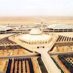 This airport consists of 4Passenger terminals(only three in use)with eight aero-bridges each, Mosque, Car parking fo 11,600Vehicles, Royal terminal, Central control tower & 2 parallel runways.