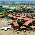The primary airport serving the Greater Jakarta, Indonesia. Named after the first president and vice-president of Indonesia, Soekarno and Mohammad Hatta, it's located at Benda, Tangerang.