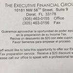 THE EXECUTIVE FINANCIAL GROUP