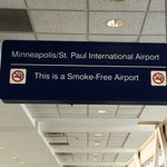 MSP is smokefree indoors for health of airport staff and travelers.