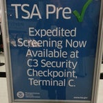 TSA Pre-Check expedited screening is available at Security Checkpoint C-3 inside Terminal C (United), on the left.  Walk left from C-2 to get there.