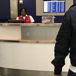 Delta Airlines has some of the most churlish staff there is. This one in particular has no clue how to talk to customers. It's unreal.