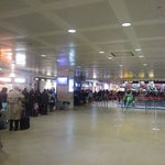 Beware of a mega queue to security if you fly out on Sunday evening