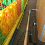 There is a power plug at the observation deck upstairs on a column behind the play space