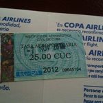 Al salir se debe pagar 25 CUC por impuesto del aeropuerto / You've must to pay a departure tax, the total amount is 25 CUC