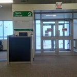 Hamilton Airport has 6 gates but only two sets of doors.