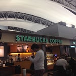 Starbucks in Terminal 1 level 4 departures (between desks C and D in back) outside of Security.