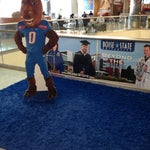 Put your foot on the blue turf of Boise State!