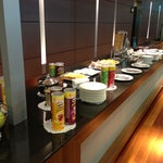 Nice business lounge.  Pringles are a featured snack!