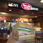 Lots of sandwich choices at Brioche--ham & Brie with apple slices is a winner--but ask for a fresh sandwich from the back. The ones on display looked a little wilted on the edges.