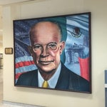 Look for the random portrait of Dwight Eisenhower.