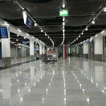 Large airport. Prepare for walking. Sometimes it's empty but mostly crowded.