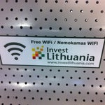 "Free WiFi!!! Look for the network ""Invest Lithuania FREE WiFi"""