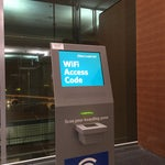 Get your wifi access code from these kiosk