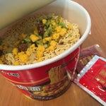 上海空港のオススメは これしかありません!(苦笑)いつもラウンジで野菜炒めをトッピングします  今日は新筍だったので食感も好!