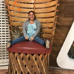 Sitting on this huge chair