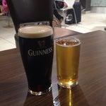 Last Guinness and Heineken before flight.
