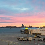 If you arrive early, you can watch the sunrise while you wait for your plane!