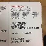 """En Taca, por no imprimir tu boarding a tiempo, te escriben en el mismo boarding """"sin comida"""". Esto pasó en el Aeropuerto en Lima"""