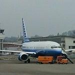 Auf der Bundesbasis in Bern -Belp gesehen Boeing 737