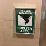 In the event of severe weather such as a tornado or hurricane, get over to the B gates and take shelter.
