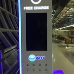 Free Charge Stations are available in both arrival and departure halls, including at each gate. Thumbs up!!