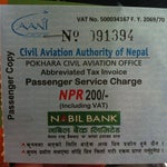 Passengers are required to pay for service charge NPR 200 (including VAT) #nepalairporttax #travelnepal
