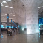A truly stunning terminal.  Not much to eat before security. Free wifi available at the information desks