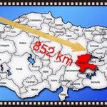 İstanbul - Malatya hava yoluyla 852 kilometre...