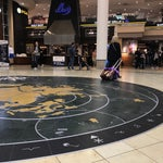Very neat public art. Find You Are Here in Concourse D.