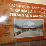 Limited bathrooms in baggage claim areas. Do you business early or wait for 2014 to be A-Mazed based on this poster.
