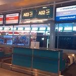Регистрация на рейсы Трансаэро проходит в секторе А, второй этаж!