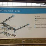 Ranging from just 1200 feet to 1.04 miles; the airport has a walking path guide listed on every info board! Pretty nice to know how far you've walked; or get in some exercise on layover!