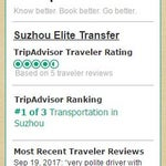 "Shanghai Airport Transportation to Nearby Cities Service is rated ""Excellent"" on Tripadvisor"