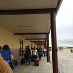 Small and easy airport to navigate. Friendly.