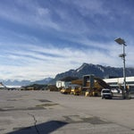 Small airport with limited choice of flights,restaurants and shops in a beautiful location . The touch down on a sunny day is incredible with a panoramic view to the alps