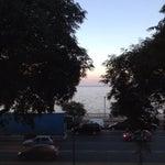 La vista desde el aeropuerto al mar de la plata. Y sus atardeceres son bellas!