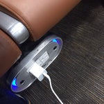 Every chair now has an AC plug! Take a lesson all other airports. SA is the best!
