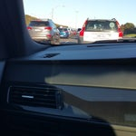 Frustrating.... an international airport that has only 2 lanes merge into one..good bye Syd.