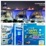 I ❤️ Happy Tourist SIM card with DTAC rewards. Self-Service Kiosks, find them: Gate 7, arrival hall. Scan & pay. If feeling daunted. The counter is just next to it where staffs would b happy to help.