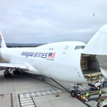 Malaysian Airlines 747 loading up with live goat export