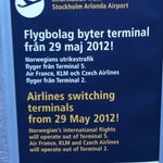 Important Arlanda information for Norwegian airlines, KLM airlines and Air France airlines!!!