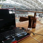 """If you have a long time to wait for flight, go upstairs and grab a beer from """"la terrasse"""" restaurant. There you can also use the free electricity for most needed """"charging""""."""