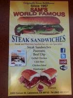 Sam's World Famous Steak Sandwiches